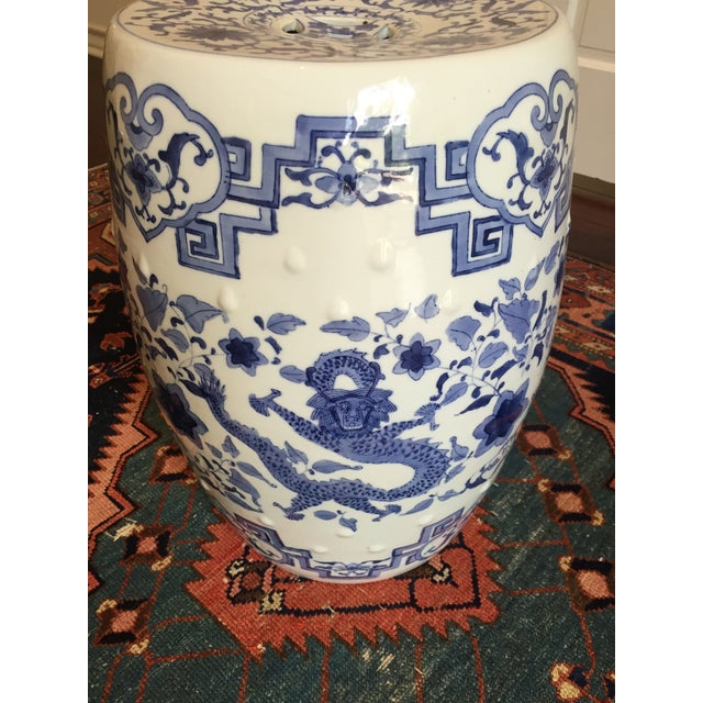 Chinoiserie Ceramic Garden Stool For Sale - Image 4 of 8