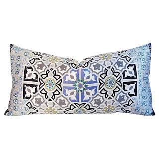 Jumbo Italian Silk Andalusian Moorish Feather/Down Lumbar Pillow