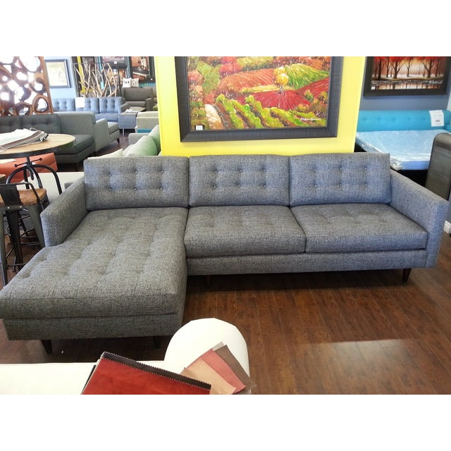 Mid-Century Tufted 2-Piece Sectional - Image 2 of 3