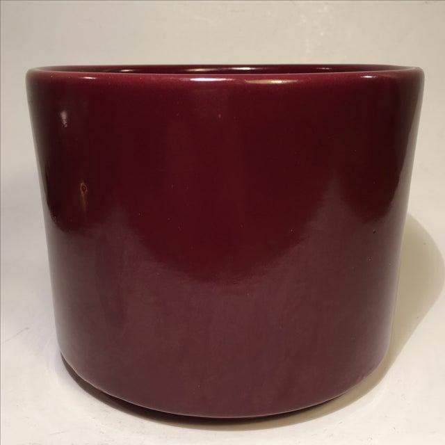 Vintage Gainey Burgundy Gloss Planter - Image 3 of 4
