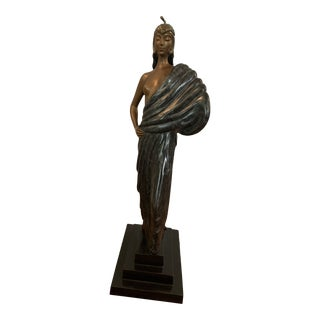 Erte Art Deco Beauty and the Beast Bronze Sculpture 233/250 Limited and Signed For Sale