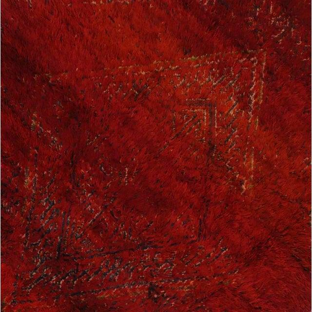 Vintage Berber Red Moroccan Rug 6 x 9 - Image 4 of 4