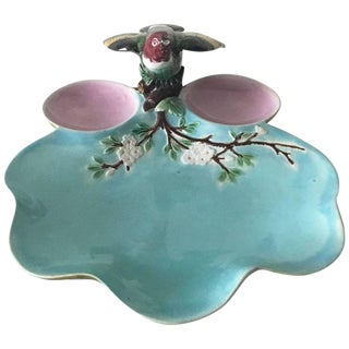 19th Century Victorian Joseph Holdcroft Majolica Bird Platter