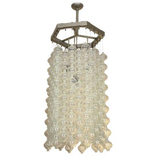 Kalmar Chandelier With Tulipan Nestling Glass Elements For Sale
