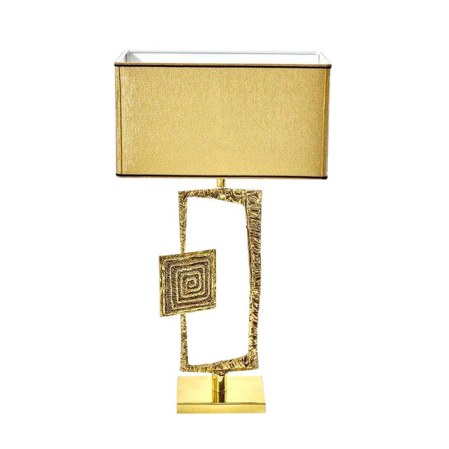 "Sculptural Cast Bronze ""Tea"" Table Lamp by Esperia For Sale"