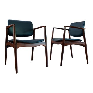 1960s Brazilian Rosewood Captain's Chair by Erik Buch - a Pair For Sale