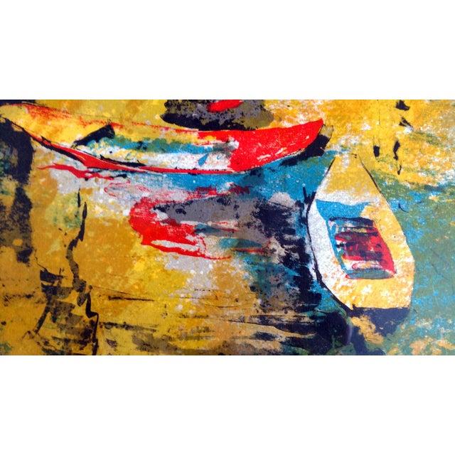 """Bord du Lac I"" Lithograph by Hoi Lebadang - Image 6 of 11"