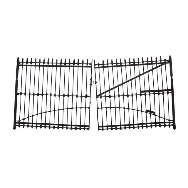 1800s Forged Iron Dual Driveway Gates - a Pair For Sale In Los Angeles - Image 6 of 10