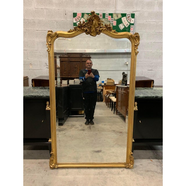 French Louis XV Giltwood Mirrors With Facetted Glass C.1900s For Sale - Image 13 of 13