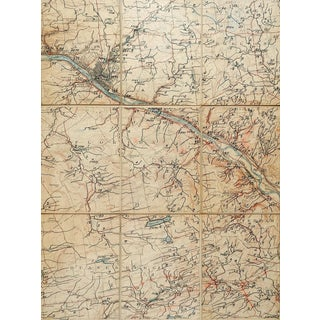 Amsterdam New York C. 1900 Us Geological Survey Folding Map For Sale