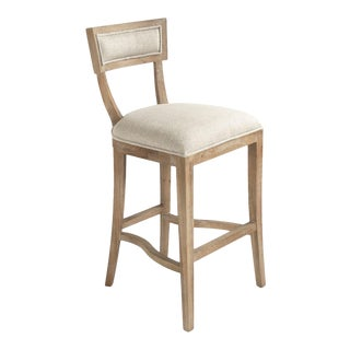 Selborne Bar Stool in Cream For Sale