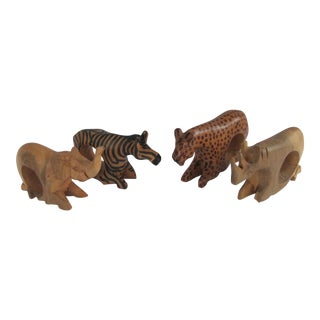 African Animal Napkin Rings - 4 Pieces
