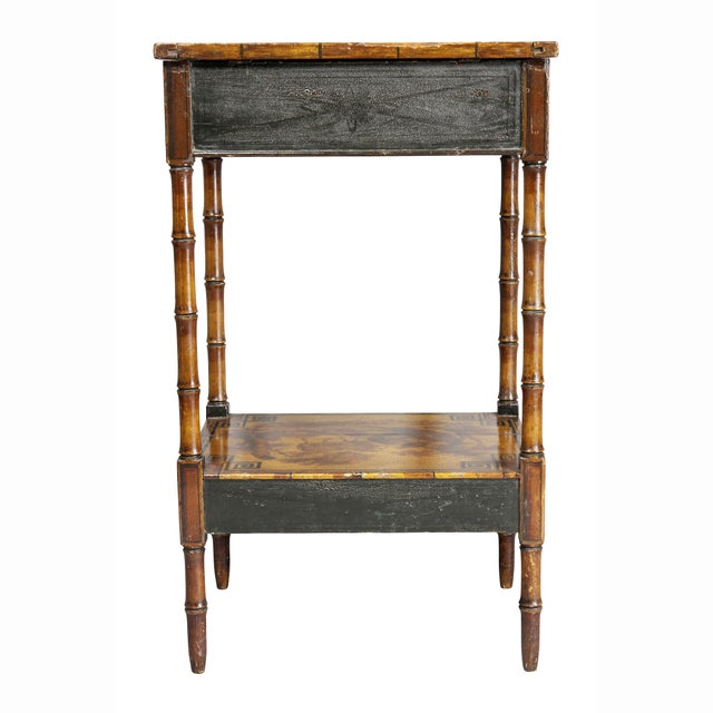 Regency Stencilled and Painted Side Table For Sale - Image 12 of 13
