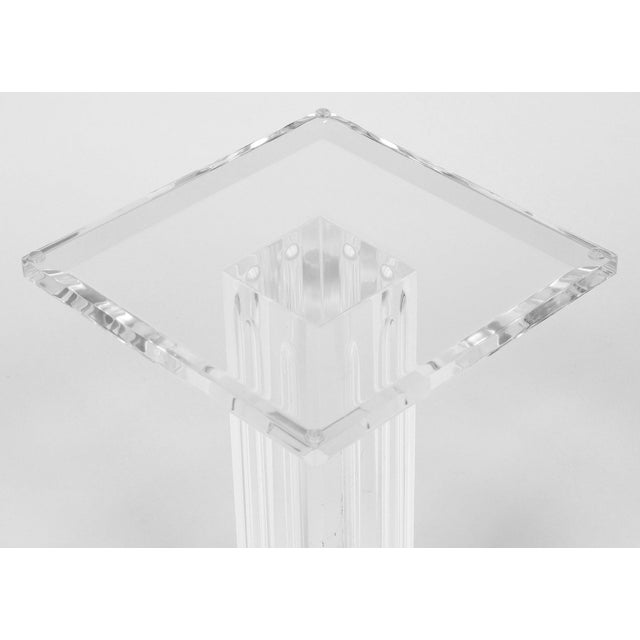 Mid-Century Modern French Mid-Century Lucite Pedestal For Sale - Image 3 of 9
