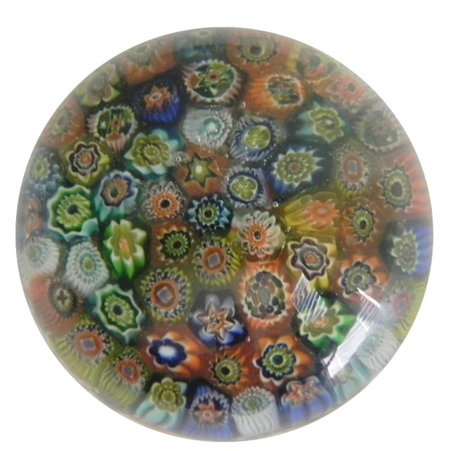 Vintage Murano Glass Paperweight For Sale