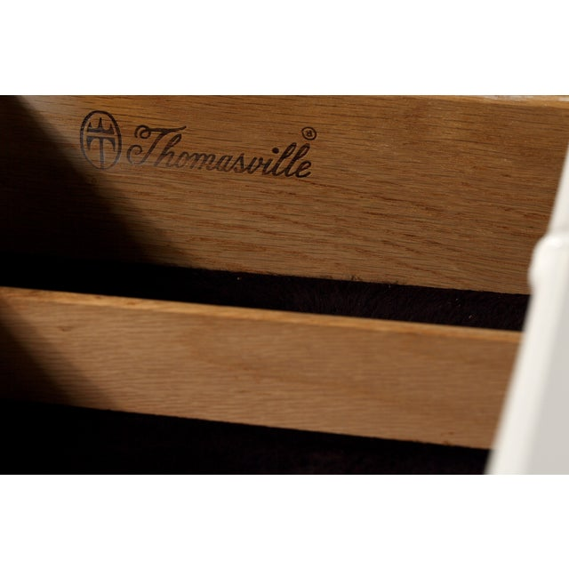 Thomasville Faux-Bamboo Console - Image 7 of 7