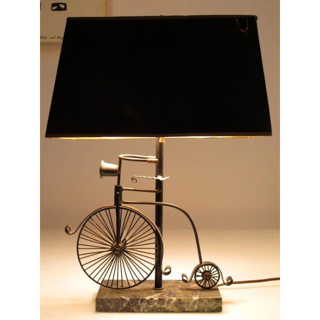 1950s Vintage Bicycle Lamp and Shade - 2 Pieces For Sale In Tampa - Image 6 of 7