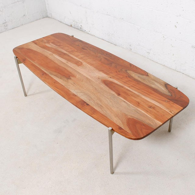 Laverne Exotic Wood Coffee Table - Image 4 of 6