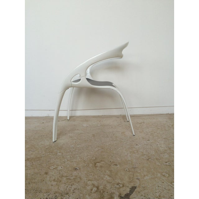 "Ross Lovegrove White Lacquer ""Go"" Chair - Image 3 of 6"