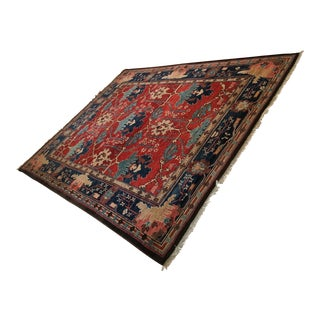 Turkish Azeri Wool Rug - 9′4″ × 12′7″ For Sale
