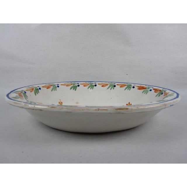 Henriot Quimper HenRiot Quimper Rustic Faience Couronnes Bowl, Femme de la Campagne Breton For Sale - Image 4 of 8