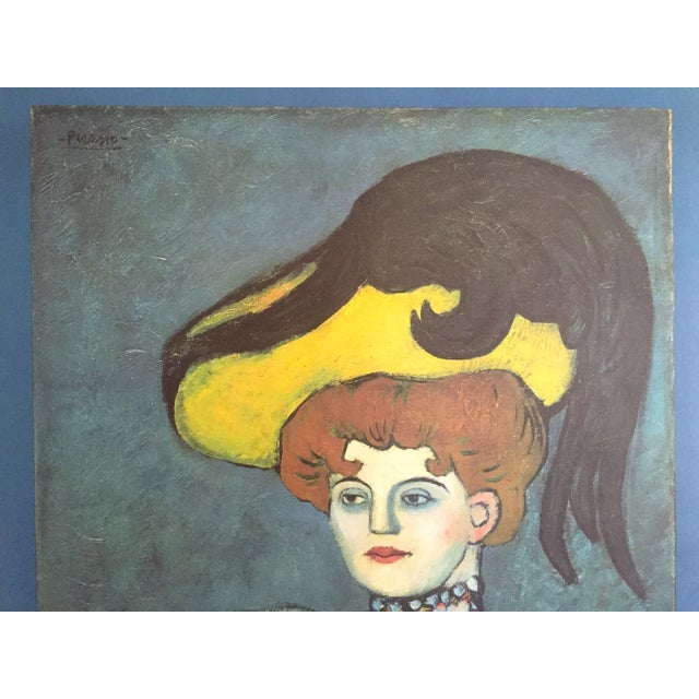 """Pablo Picasso Vintage 1985 Lithograph Print Exhibition Poster """" Courtesan With Jeweled Collar """" 1901 For Sale - Image 9 of 13"""