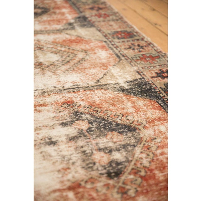 """Old New House Vintage Distressed Oushak Rug Runner - 3'8"""" X 10'3"""" For Sale - Image 4 of 12"""