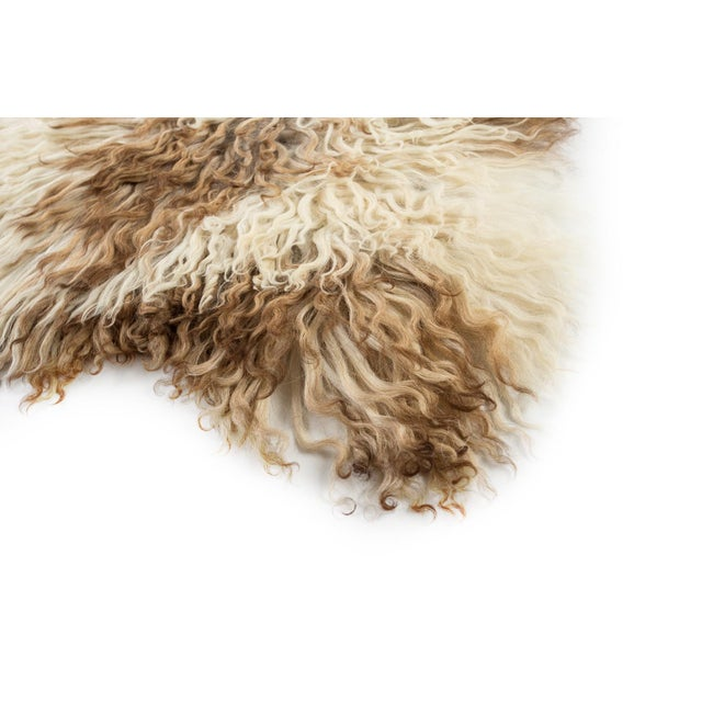 "Contemporary Natural Sheepskin Pelt - 2'2""x3'6"" For Sale - Image 4 of 7"