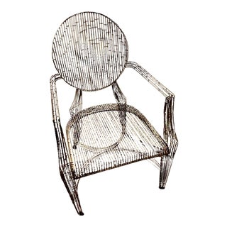 Vintage Hand Welded Metal Armchair For Sale