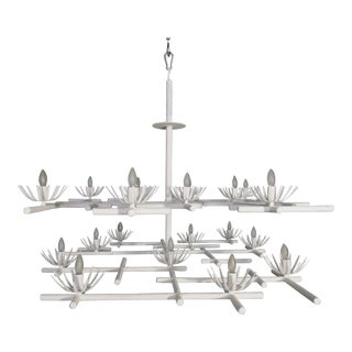 Plaster Starburst Chandelier For Sale
