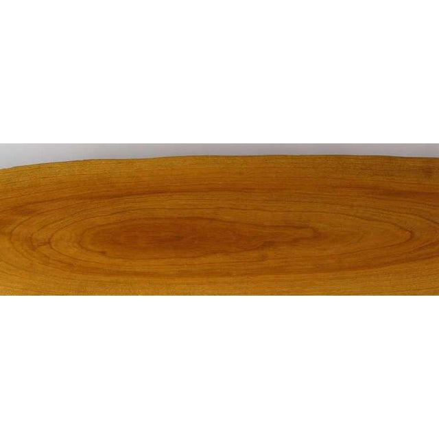 Wood Adirondack Style Natural Wood Surf Board Coffee Table For Sale - Image 7 of 8