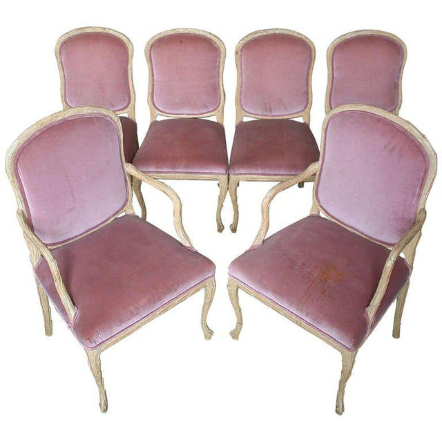 1960s Hollywood Regency Hand-Carved Dining Chairs - Set of 6 For Sale - Image 11 of 11