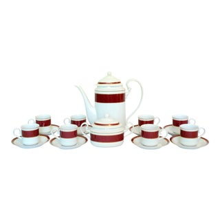 Block Spal Porcelain Coffee Service For Sale