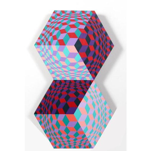 1980s Victor Vasarely, Kettes, 1988 For Sale - Image 5 of 6