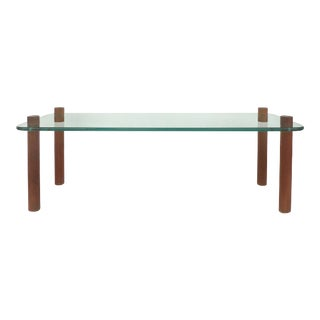 1960s Adrian Pearsall Craft Associates Glass/Wood Coffee Table For Sale