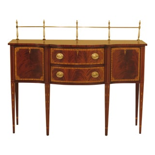 1990s Federal Councill Craftsmen Mahogany Sideboard With Gallery For Sale