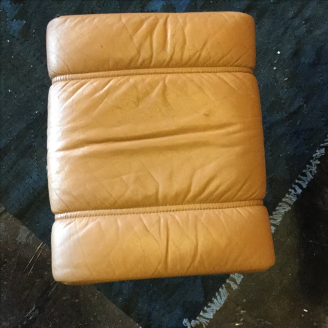 Ekrone Stressless Leather Recliner & Ottoman - Image 6 of 9