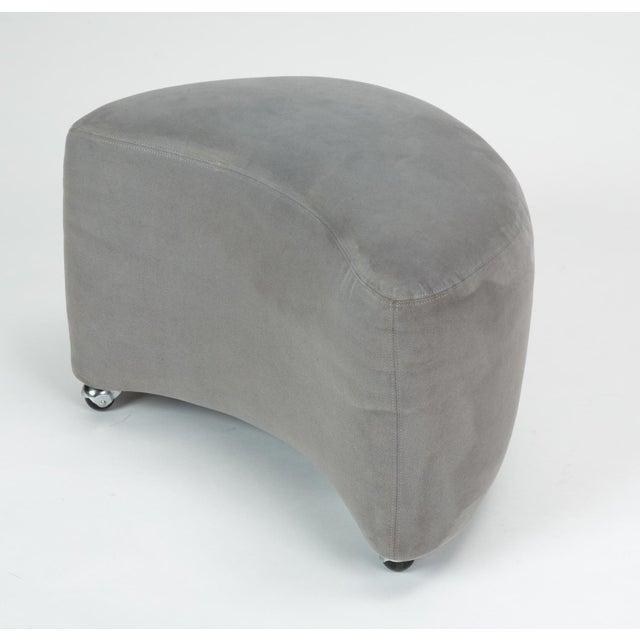 Vladimir Kagan Gray Cloud Sofa With Ottoman For Sale - Image 12 of 13