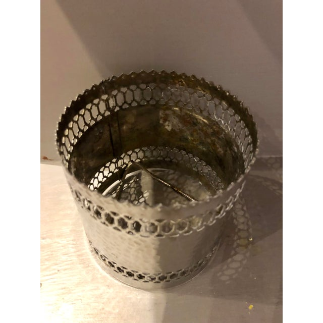 English Traditional Silver Pierced Bottle Coaster For Sale - Image 3 of 6