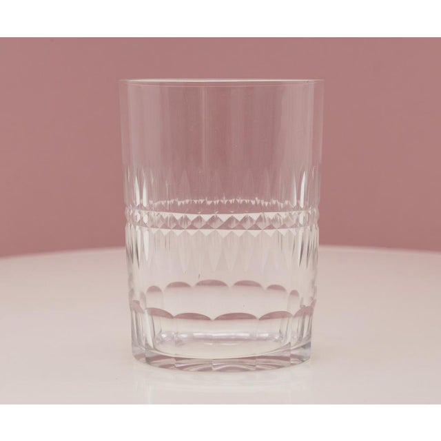 Antique Hand Cut Crystal Whiskey Tumbler Glasses - Set of 8 For Sale - Image 4 of 6