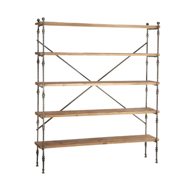 Reclaimed Wood & Iron Shelving For Sale