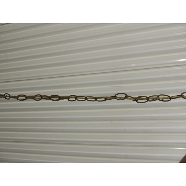 Large Traditional Forged Iron Hanging Chandelier From Curry & Co For Sale - Image 10 of 12