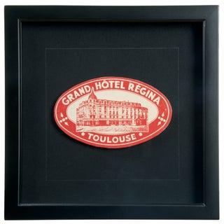 Vintage French Hotel Regina Luggage Label