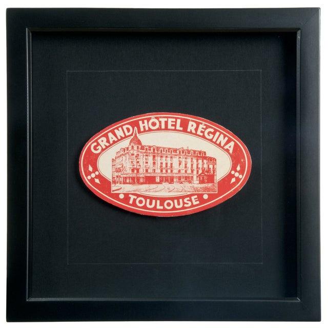Vintage French Hotel Regina Luggage Label - Image 1 of 2