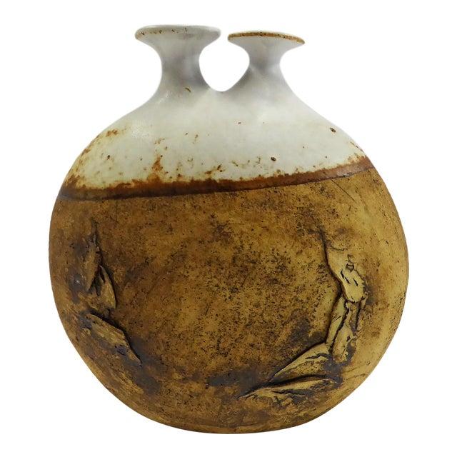 Fine Warren Hullow Organic Art Pottery Weed Pot Twig Vase 1960s Decaso