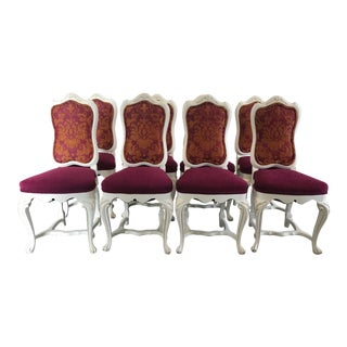 Early 20th Century Vintage Louis XV Style Dining Chairs- Set of 8 For Sale
