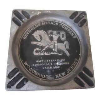 Vintage Reynolds Aluminum Ashtray For Sale