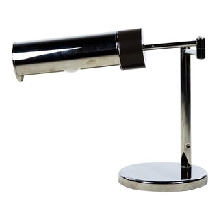 Walter Von Nessen Mid-Century Modern Swing Arm Chrome Desk Lamp For Sale