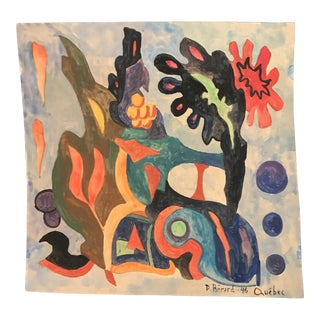 1946 Mid-Century Modern Abstract Painting by Berard, Quebec For Sale