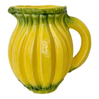 Vintage Portugese Olfaire Ceramic Banana Pitcher For Sale